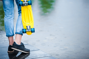 Longboarding In The Rain